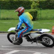 Enduro beim Motorradslalom