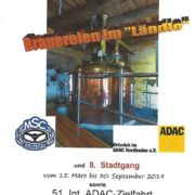 Plakat zur Ankündigung der Bildersuchfahrt Brauereien im Ländle und dem 8. Stadtgang