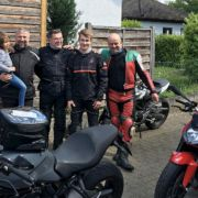 Gruppenfoto nach der Ausfahrt in den Odenwald